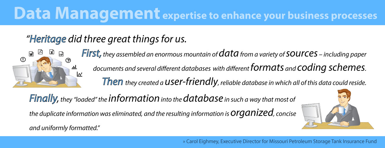 Data Management expertise to enhance your business processes.